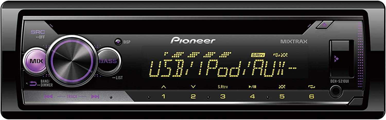 Pioneer Deh S110ub 1din Rds Car Radio With Red Button Elektronik