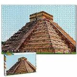 México Cancún Pirámide Maya Rompecabezas para Adultos, 1000 Piezas de Madera, Regalo de Viaje, Recuerdo, 30x20 Pulgadas