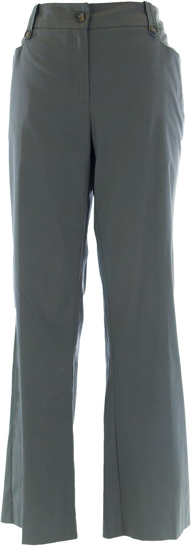 Marina Rinaldi by MaxMara Folke Medium Gray Flared Dress Pants 12W / 21