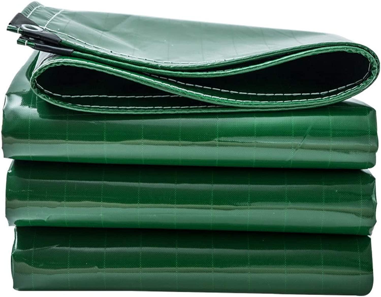 防水 防水布厚い緑色のナイフ掻き布防水シート雨布雨布屋外風防ガラス日除け布グリーン、19種類のサイズ、倉庫産業港ドックトラックや他の日よけ防水 @ (Size : 5mX7m)