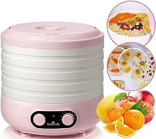 BelleLife フードドライヤー 食品乾燥機 野菜乾燥機 電気食品脱水機 5層大容量 35℃から70℃までの温度設定 ヘルシー ドライフードメーカー 家庭用 日本語説明書付き&一年間保証