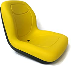 The ROP Shop New Yellow HIGH Back SEAT for John Deere Lawn Mower Models 325 335 345 415 425