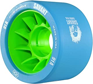 ATOM Savant Skate Wheels (Blue-91A 8 Pack)