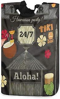 COFEIYISI Grand Organiser Paniers pour Vêtements Stockage,Bar Tiki Traditionnel,Pliable Sac à Linge,Pliage Grande Capacité...