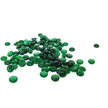 Rastogi Handicrafts Tiny Centerpieces,Glass Gems for Vase Fillers,Wedding, Decoration Pebbles 100 pcs (Green) SIZE -10 mm (1 cm)