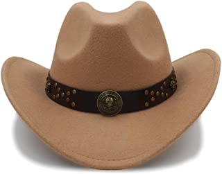 Ruiyue Western Cowboy Hats Travel Caps Vintage Cowgirl Cowboys Unisex Hats Felt Jazz Cap For Women Men