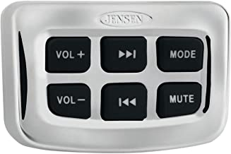 Jensen JHDHBC Heavy Duty Universal Handlebar Control For use with Jensen JHD40BT, HD1BT and JHD1635BT AM/FM/WB/USB Bluetooth Stereos; Ergonomic Rubberized Black Buttons; Waterproof (IPX6)