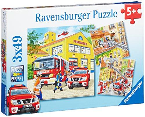 Ravensburger Kinderpuzzle 09401 - Feuerwehreinsatz - 3 x 49 Teile