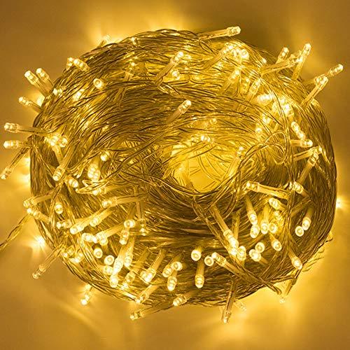 BLOOMWIN Guirnaldas Luces Exterior Interior 100M 500 LEDs Luminosas Cadena de Luces Cortinas 8 Modos 31V Bajo Voltaje Impermeable para Decoración Navidad Fiesta Boda Casa Patio Jardín