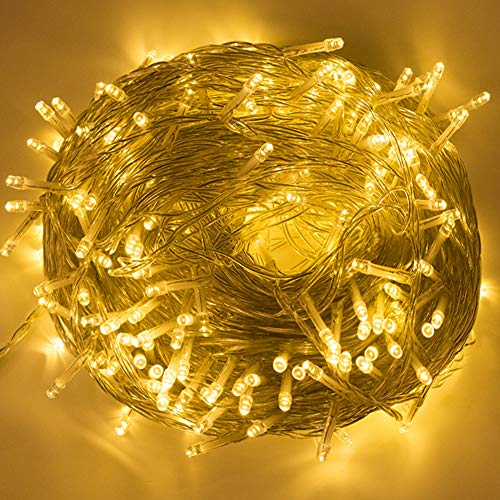BLOOMWIN Guirnaldas Luces Exterior Interior 100M 500 LEDs Luminosas Cadena de Luces Cortinas 8 Modos Luces de Cadena Impermeable para Decoración Navidad Fiesta Boda Dormitorio Patio Jardín Bar