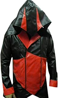 Mens Assasin Creeds Leather Jacket Red