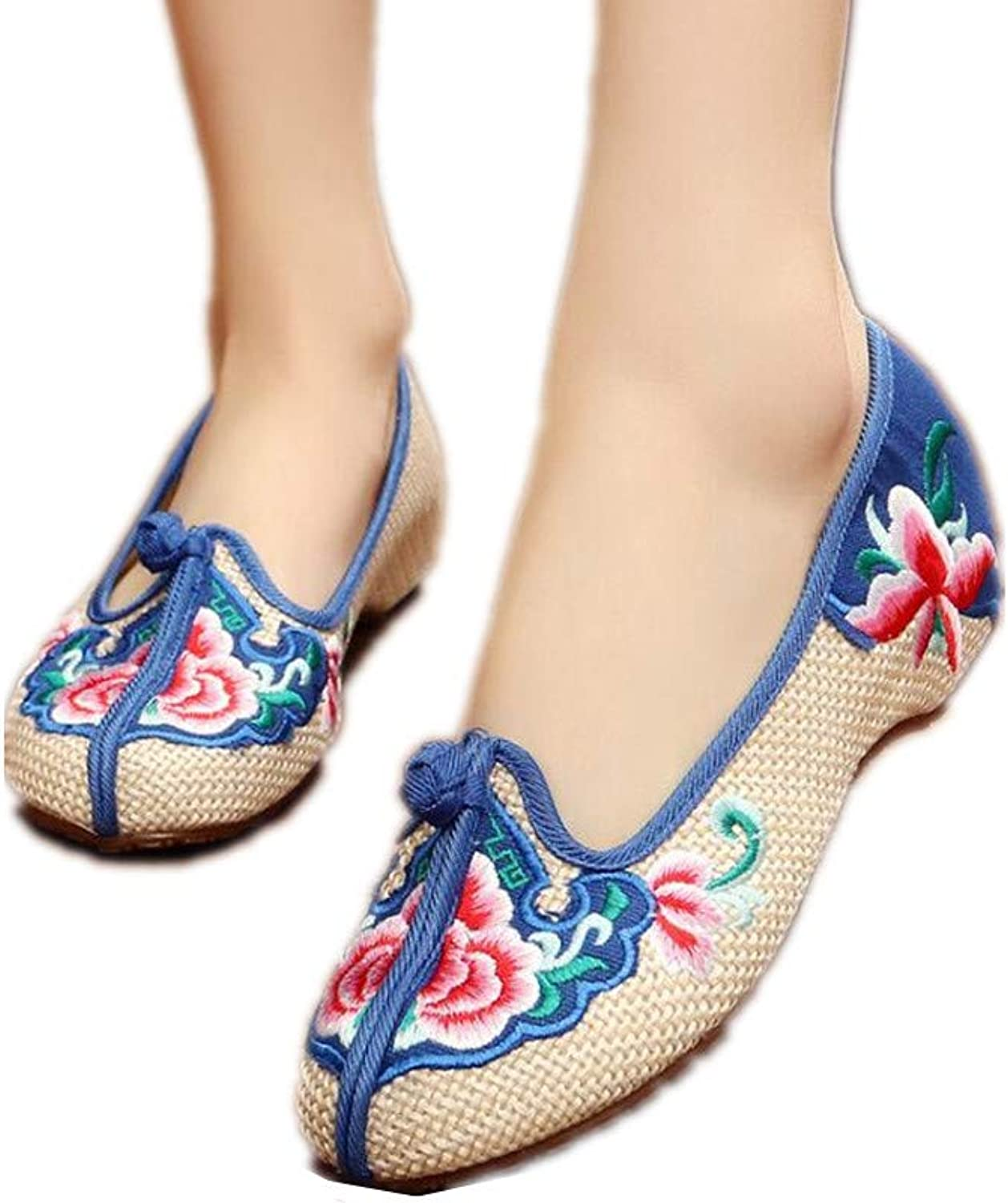 F1rst Rate Embroidered shoes- Flats shoes Slipper Comfortable Loafer Embroidery Slip on