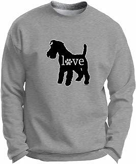 ThisWear Schnauzer Love Dog Paw Prints Premium Crewneck Sweatshirt