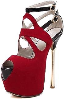 Kosplay Femme Escarpins Bride Cheville Sexy Talon Aiguille Plateforme Epais Chaussures High Heels Club Soiree