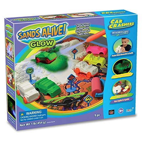 Play Visions Sands Alive Glow Sand Car Crashers Kit
