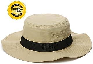 UPF 50 Sun Hats Wide Brim Summer Mesh UV Protection Safari Hat Fishing Walking Hiking Boonie Hats for Men Chin Strap Water...