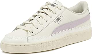 PUMA Womens Whisper White Rubberized Basket Trainers