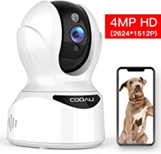 Pet Camera 4MP HD WiFi Home Security Camera, COOAU Dog Cameras, Wireless IP Camera Baby Monitor with AI Face/Sound/Motion Detection, Motion Tracking, Night Vision, Two-Way Audio, Support Alexa