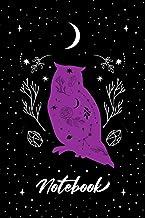 "Notebook: Magic Purple Night Owl Moon Journal - Lined Notebook Journal, 6 x 9"", 110 Pages (Witch Notebook Journal)"
