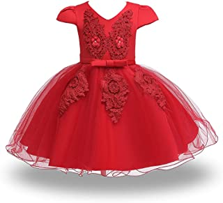 HUAANIUE 女婴盛会婚纱生日派对洗礼礼服