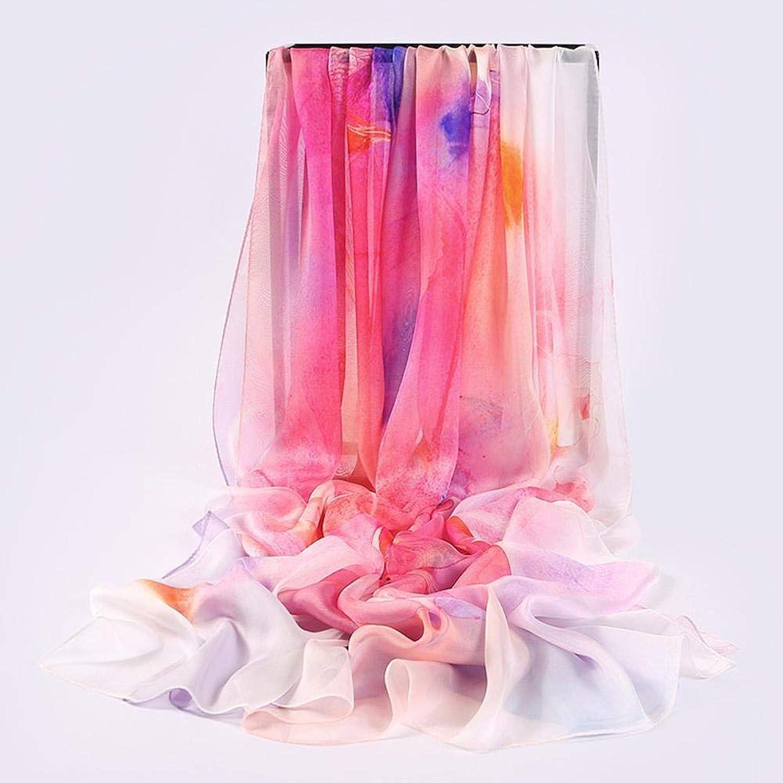 Weiwei Lady Silk Shawl Seaside Sunscreen Shawl Scarf Pure Silk Long Shawl 200cm110cm
