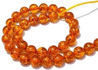 Zoya Gems & Jewellery Honey Amber Smooth Round Balls Beads 8x8mm-15 Inch Strand 48 Piece