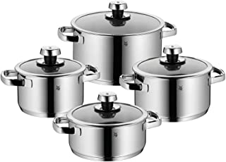 WMF Livo 8 Piece Cookware Set, Large, Silver