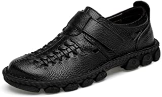 2019 Mens New Lace-up Flats Men's Casual Breathable Hook&Loop Anti-Skid Light Formal Shoes Fashion Oxford