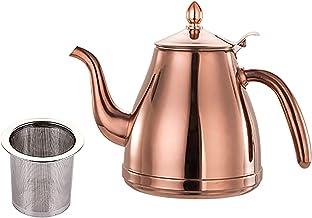Theepot, (1,5/2L) dikker roestvrijstalen koffiepot theepot, met filter, voor restaurants, conferentieruimtes, woonkamer, 3...