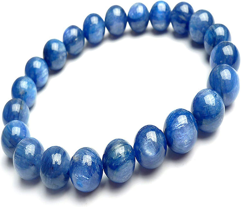 8mm Genuine Natural Blue Kyanite Bracelets for Women Gemstone Cr