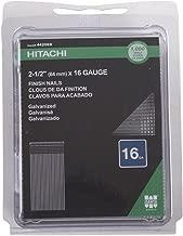 Hitachi 44206S 2-1/2-Inch x 16-Gauge Electro-Galvanized Nails, 1000-Pack