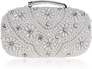 Evening Bag - Women's Fashion Elegant Handbag, Clutch, Wedding Wallet, Party Messenger Bag, is The Best Gift for Women (Color : White)