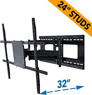 Full Motion TV Wall Mount for 42-80 inch TVs with Room Adapt Extends 32