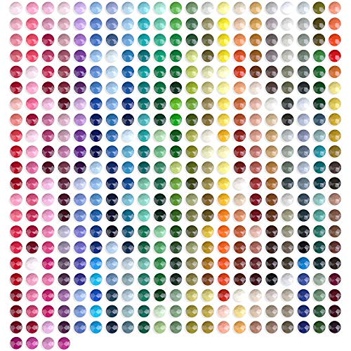 ARTDOT Beads for Diamond Painting Accessories, 89000 Pieces 445 Colors Round Beads Sparkle Rhinestones for Nails Diamond Art Crafts (200 pcs per Bag)
