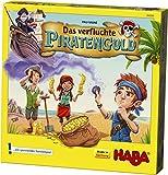 HABA 304294 - Das verfluchte Piratengold, spannendes Mitbringspiel mit Piratenschiff und 50 Spielmünzen, Sammelspiel für 2-4 Spieler von 5-99 Jahren