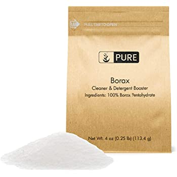 PURE Borax Powder (4 oz), Pure Borax, Multipurpose Cleaning Agent, Ideal Slime Ingredient