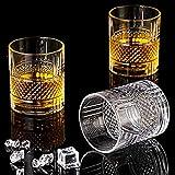 Whisky Gläser, Altmodisches Whiskey Gläser 6er-Set Whiskyglas, Whiskygeschenke für Männer Scotch Lovers, Stilglaswaren für Bourbon, Rumgläser, Bar Whiskyglasbecher Geschenke Für Männer