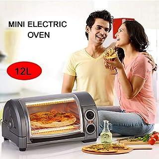 ZBHGF - Mini horno eléctrico para pizza multifunción, para máquina de pasteles, 12 litros, apto para familias, regulación de la hora, superficie curva