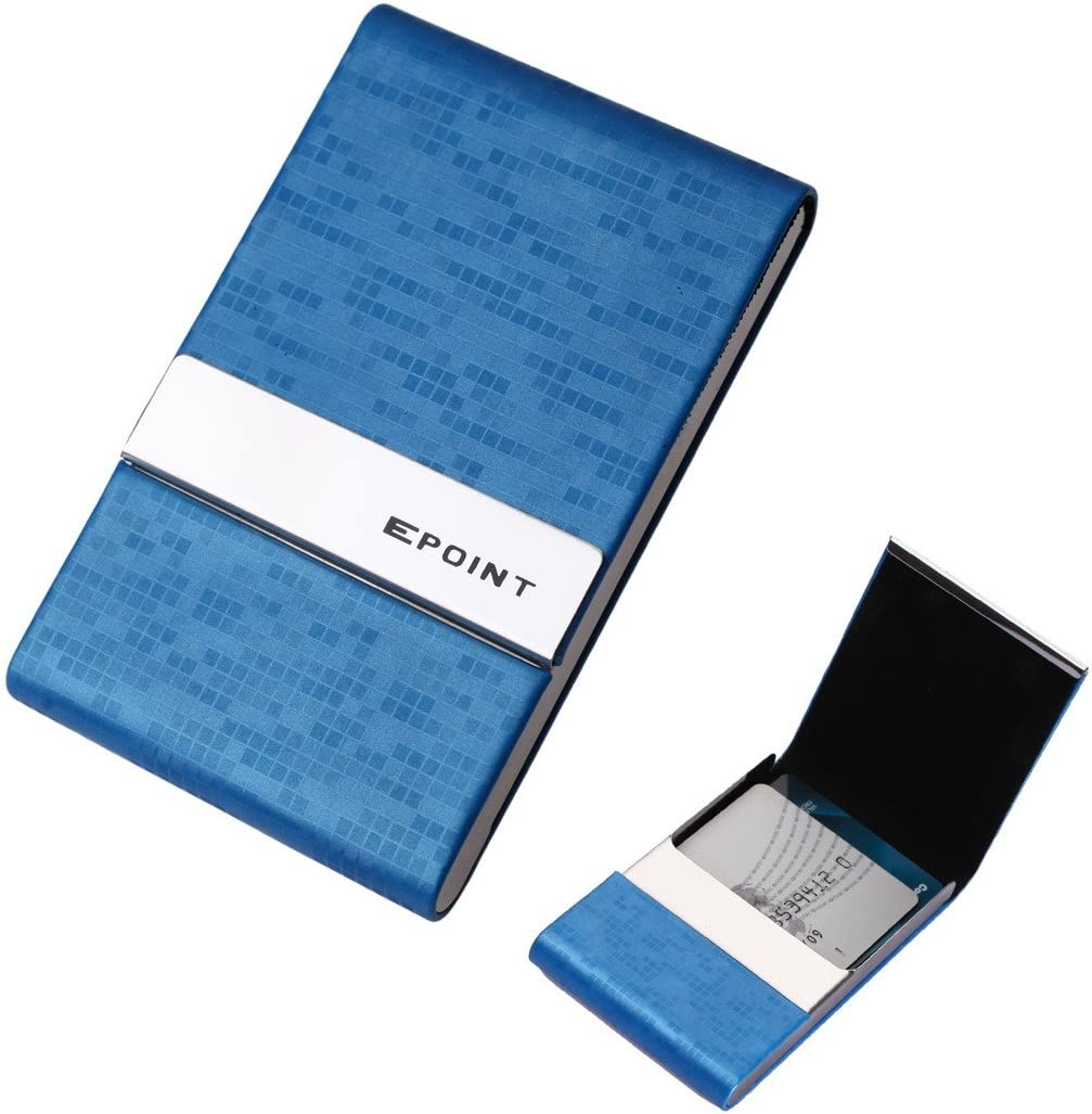 Men Business Card Case Blue Name Wallet Id Credit Card Case Epoint EDC05A04