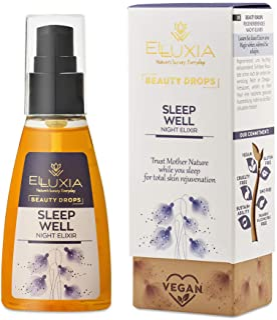 ELLUXIA, olio elisir notte idratante naturale | vegan, cruelty-free | olio viso ricco di acidi grassi Omega e ingredienti ...