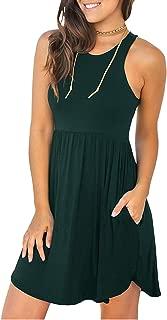Women's Sleeveless/Long Sleeve Loose Plain Dresses Casual Short Dress with Pockets