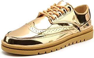 ba82c45c331ad4 DADIJIER Brogue Chaussures Pour Hommes Wingtip Oxfords Casual Chaussures À  Lacets En Cuir PU Tige Ronde