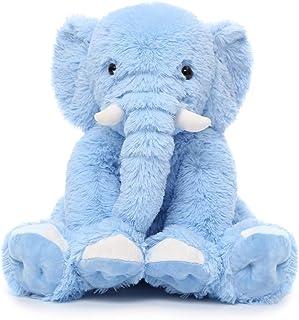 MorisMos Blue Elephant Stuffed Animal Soft Elephant Plush...