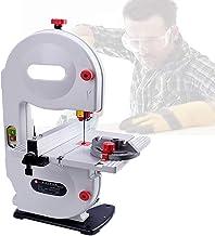 Sierra de cinta de precisión de 350 W, sierra de cinta multifunción con hoja de sierra, inclinación del banco de trabajo de 0 a 45 °, profundidad de corte de 80 Mm / 3