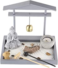 Prime Feng Shui Zen Garden Buddha Figures Mini Bell Archway Garden Kit with Sand Rocks Rake Tower Candle Holder Best Gift ...