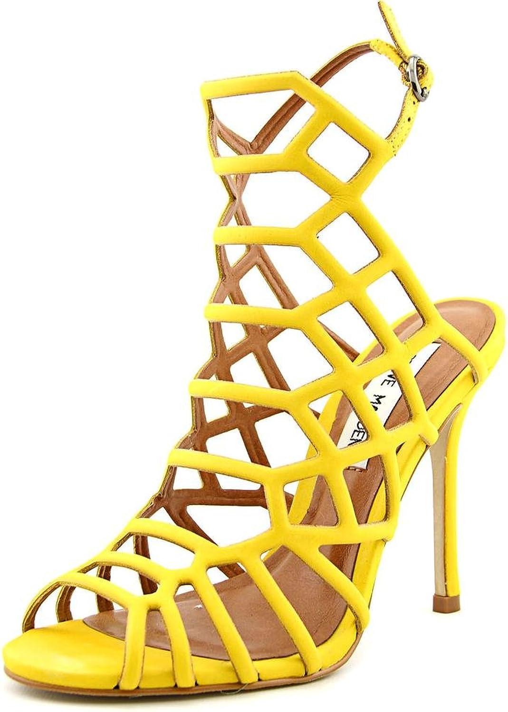Steve Madden Slithur Women US 5.5 Yellow Sandals