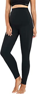 HOTFISH Women's Seamless Maternity Legging Essential Strecthy Over The Belly Active Lounge Comfy Yoga Pants