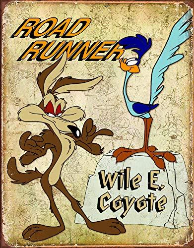 Desperate Enterprises Blechschild Road Runner & Wyle E Coyote, 33 x 41 cm
