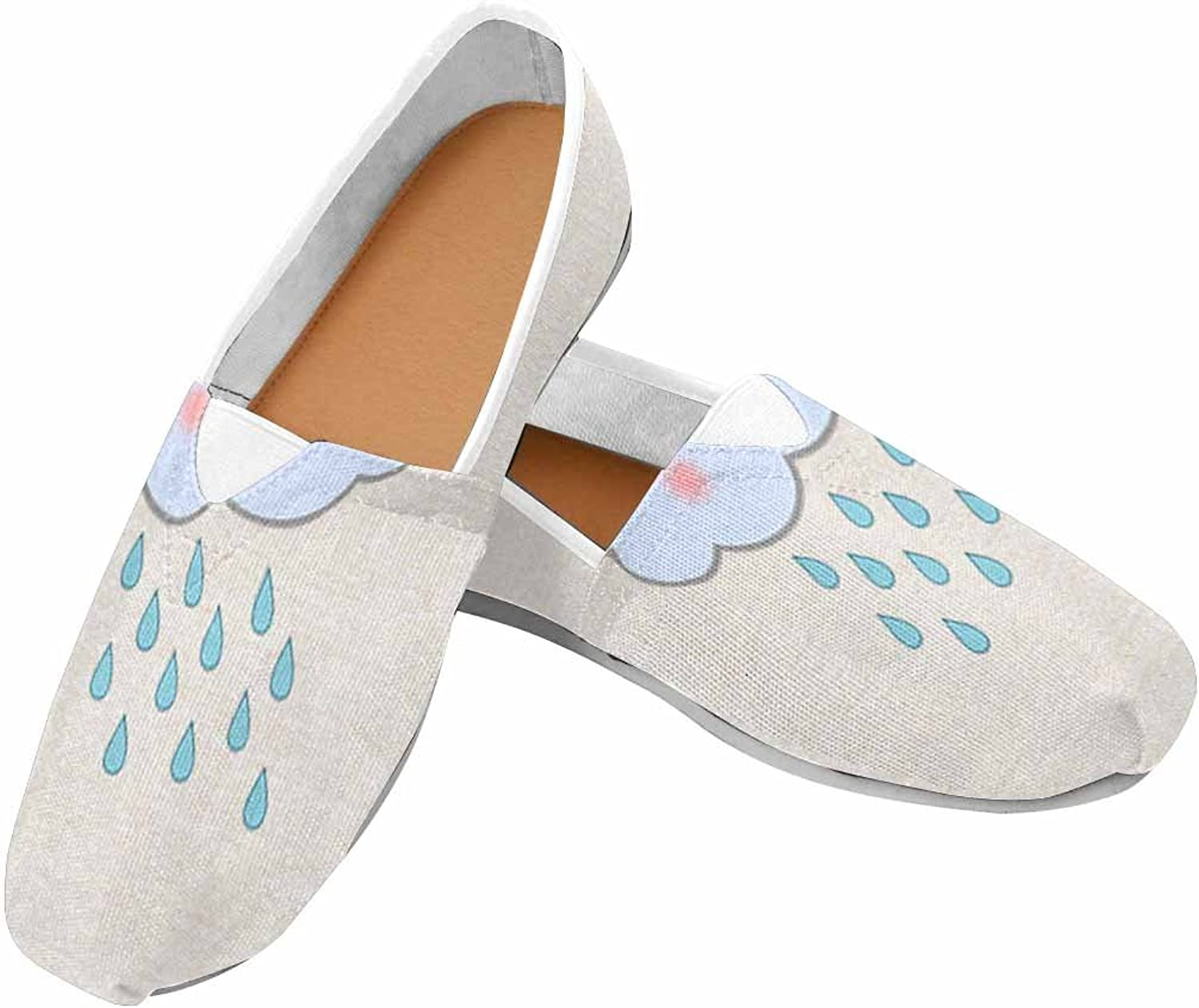 Womens Canvas shoes with Floral Print Fashion Slip-On Casual Sneakers shoes