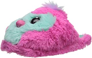 Hatchimals Girls' Penguala Plush Novelty Scuff Slipper Pink-Green Girl's Dual Size 11/12 Child US Little Kid